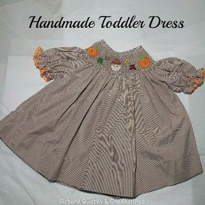 🎈4/$20🎈Handmade Fall Girls Toddler  Dress New